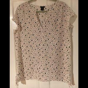 Ann Taylor Factory flutter sleeve shirt XL